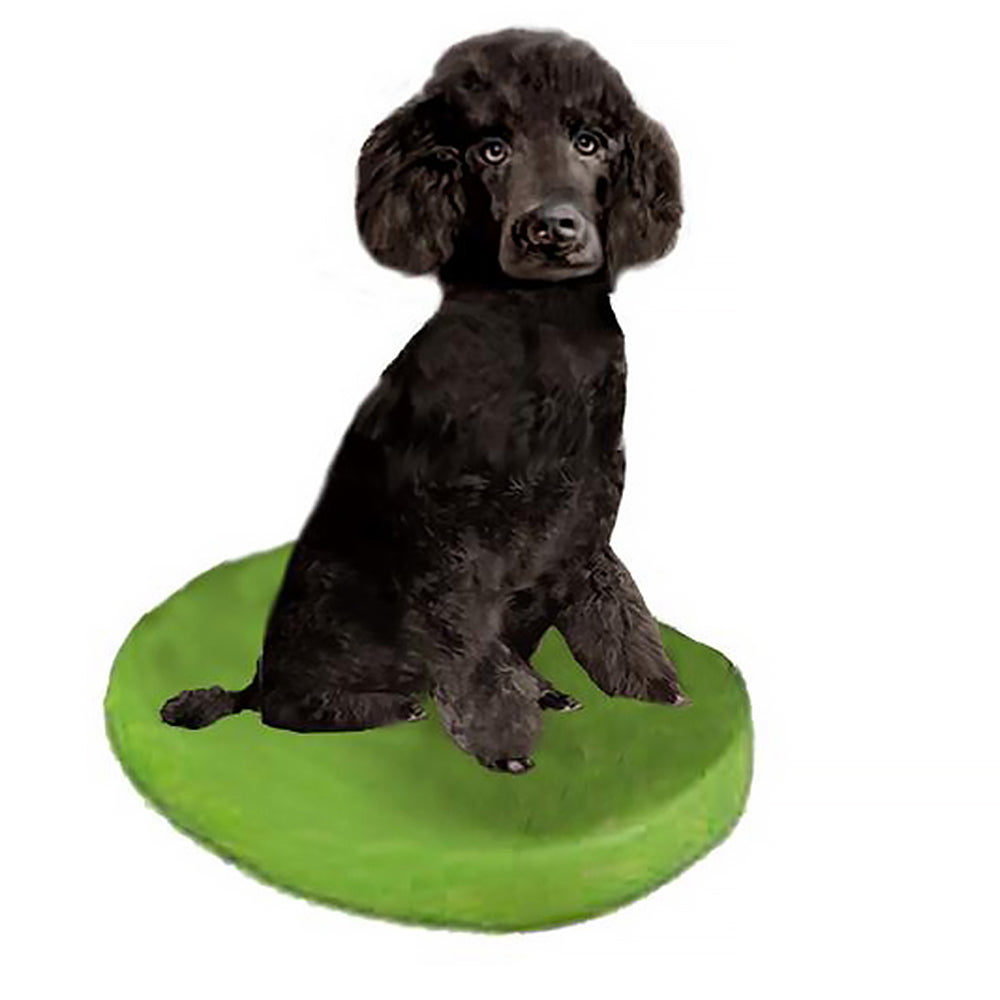 Custom Pet Dog Bobblehead - Poodle Black Miniature
