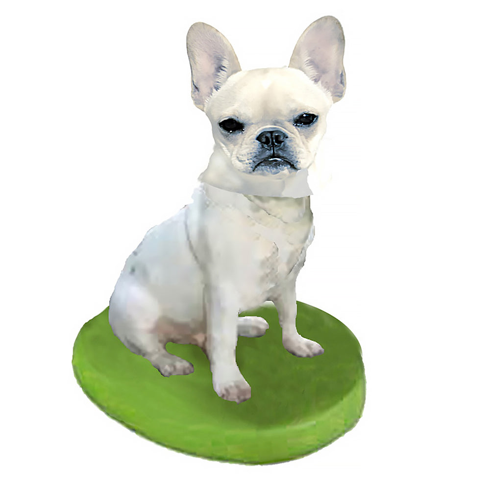 Custom Pet Dog Bobblehead - French Bulldog Cream