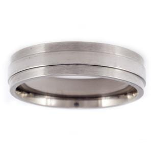 Men's Aircraft Grade Titanium Aerodynamic Comfort-Fit Wedding Band (6.00 mm)