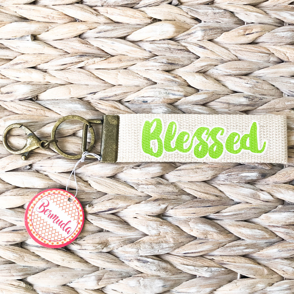Lime Blessed Keychain