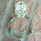 Stone Cross Turquoise Bangle Bracelet