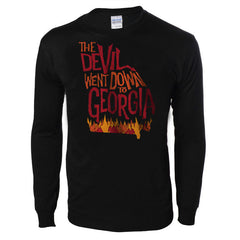 "NEW! 9 Line ""The Devil Went Down To Georgia"" 40th Anniversary Long Sleeve T-Shirt"