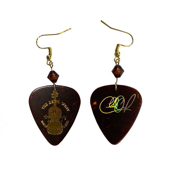 The Devil Went Down to Georgia Guitar Pick Earrings