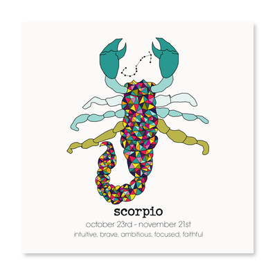 Scorpio - Greeting Card