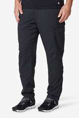 Men's jogger, lifestyle pants, comfortable, cooling, warming, sweat wicking, best feeling to the skin, Nomad Pant - Black Noir