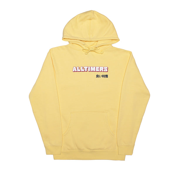BLOCKED HOODY LIGHT YELLOW