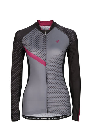 Pure Cycling Jersey Womens - Navy Blue/Pink