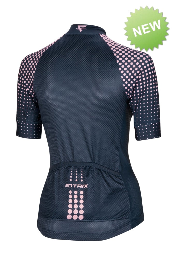 Pure Cycling Jersey Womens - Navy Blue/Pink - ENTRIX