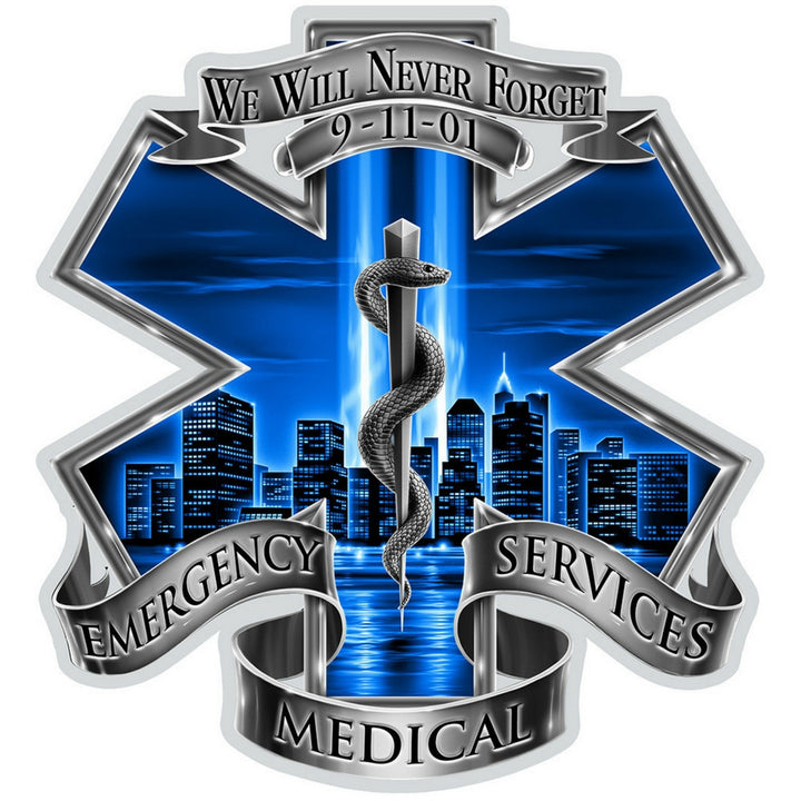 9/11 EMS Decal-Military Republic