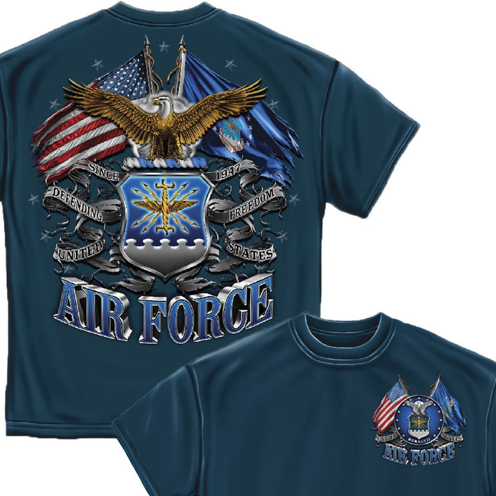 Air Force Double Flag T-Shirt-Military Republic