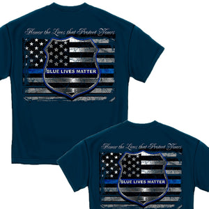 Blue Lives Matter T-Shirt-Military Republic