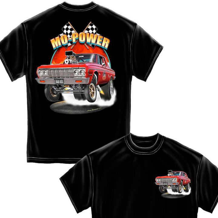 More Power Black Hot Rods T-Shirt-Military Republic