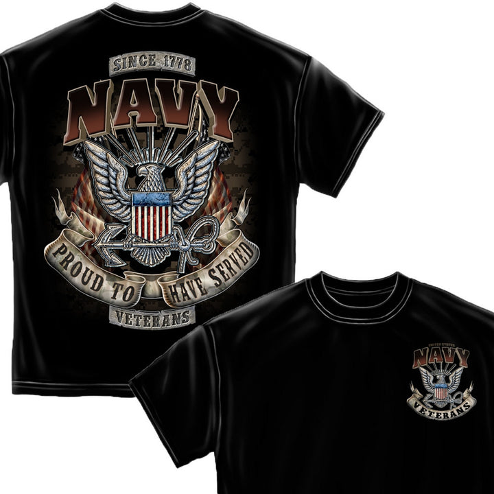 Navy Veteran T-Shirt-Military Republic