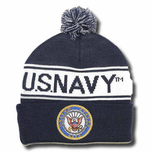 U.S NAVY Pom Pom Knit Cap-Military Republic