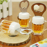 Beer Glass Fridge Magnet - Bottle Opener - Assorted-HOME-PropShop24.com