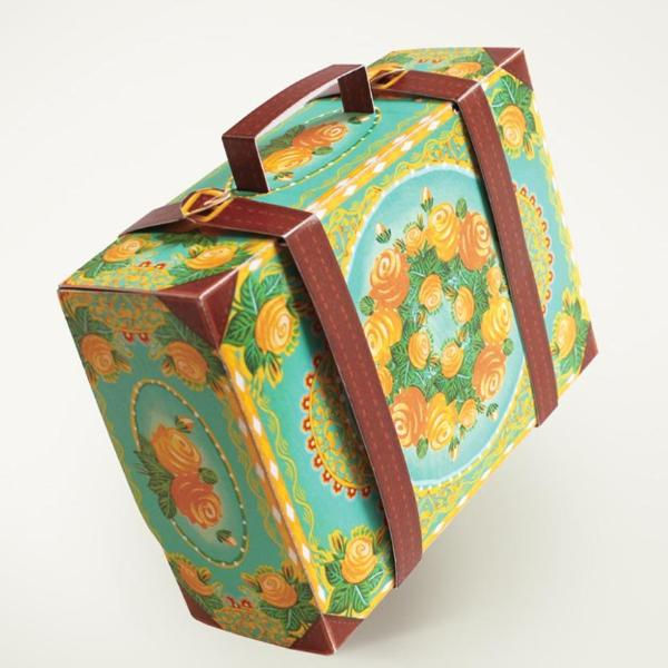 Snap-Fit Gift Box: Colorful Suitcase - Blue-STATIONERY-PropShop24.com