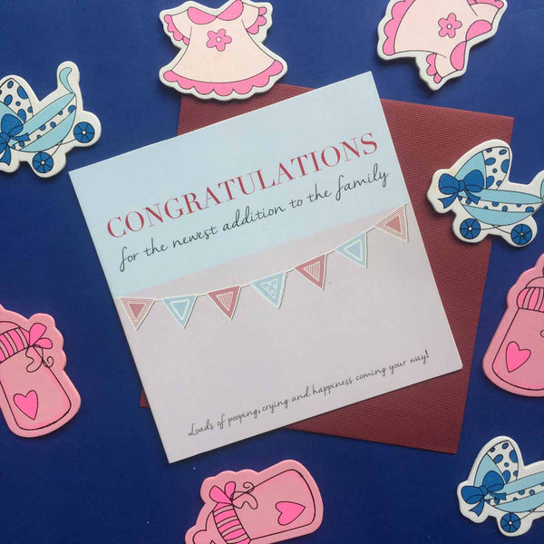 Greeting Card-Congratulations For The Baby' Card-STATIONERY-PropShop24.com