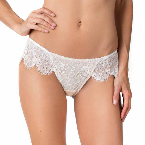 SEDUCTION | Classic Lace Brief - White
