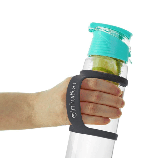 Infruition Handle Grip shown with a mint Infruition Water Bottle