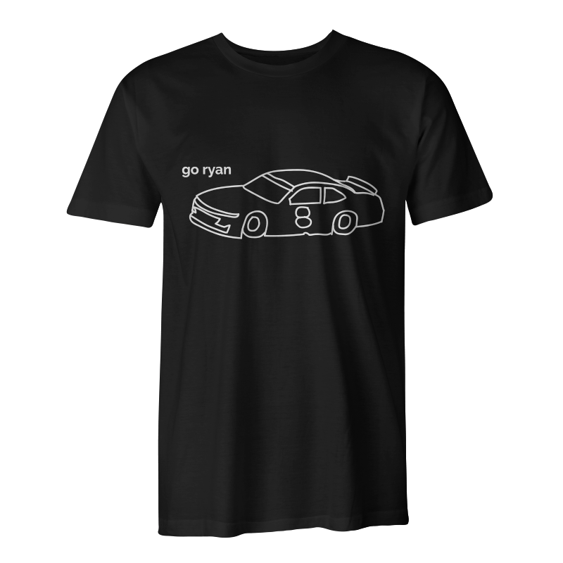 The Heather Gray Go Ryan Tee was designed by NASCAR driver, Ryan Truex. #GoRyan
