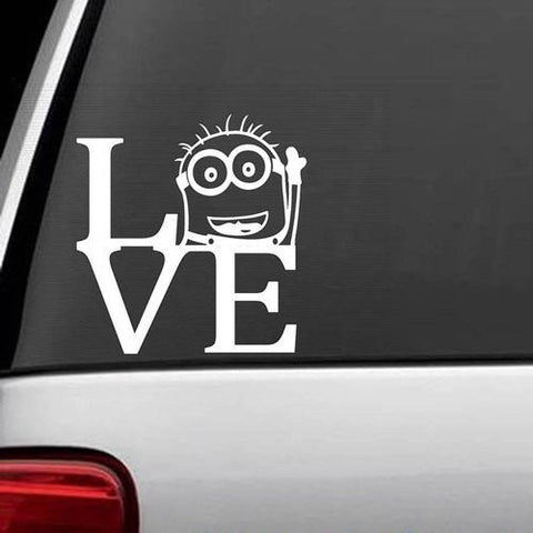 Despicable Me Minion Love Decal Sticker Vinyl for Car Truck Bumper Window Laptop - MyMonkeySticker.com
