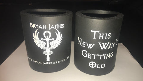 Bryan James Black Foam Koozie