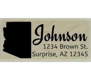 "Custom Arizona Stamp Design 4 - 2.5"" X 1"" - Stamptopia"
