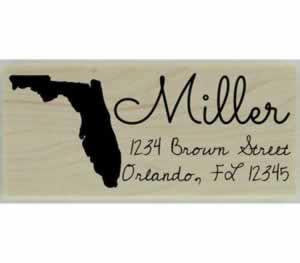 "Custom Florida Stamp Design 4 - 2.5"" X 1"" - Stamptopia"