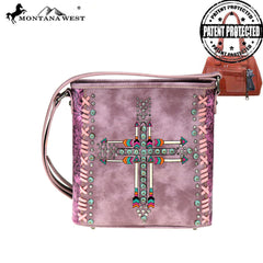 MW606G-9360 Montana West Arrow Collection Concealed Carry Crossbody