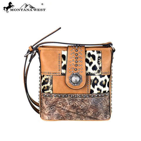 MW670-8360 Montana West Safari/Concho Collection Crossbody