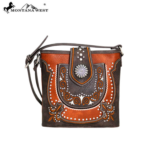 MW712-8360 Montana West Concho Collection Crossbody Bag