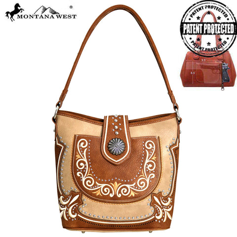 MW712G-918 Montana West Concho Collection Concealed Carry Hobo Bag