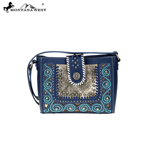 MW718-8360 Montana West Embossed Collection Crossbody Bag