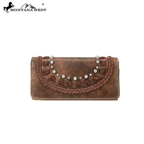 MW764-W018 Montana West Western Collection Wallet/Wristlet