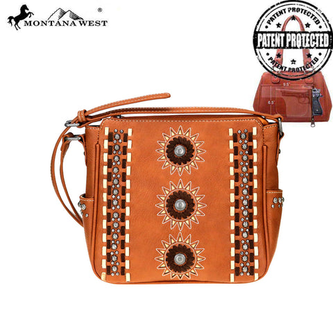 MW772G-9360 Montana West Concho Collection Concealed Carry Crossbody Bag