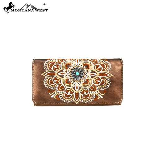 MW782-W018 Montana West Concho Collection Wallet/Wristlet