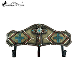 RSM-1747 Montana West Brown Aztec Resin Coat Rack