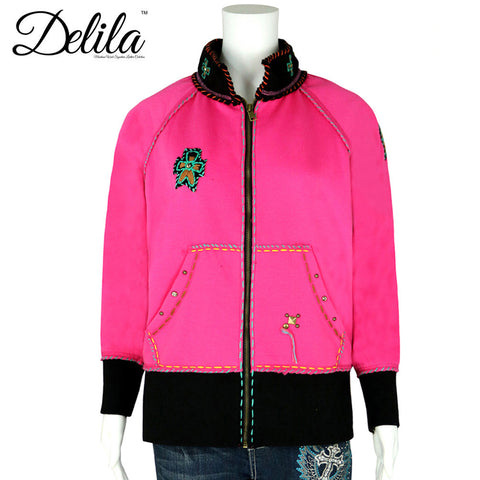 FS-609 Delila Hand Embroidered Fleece Jacket Longhorn Collection