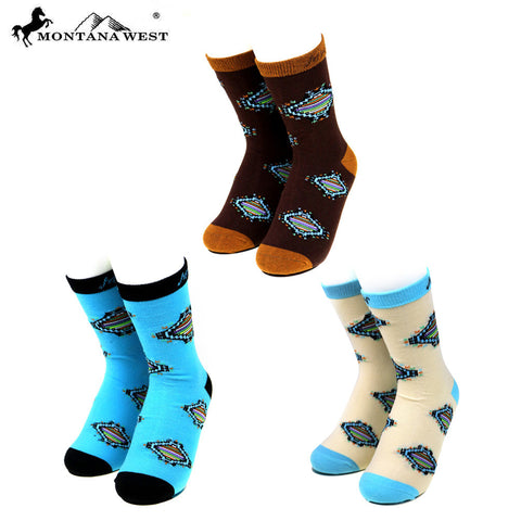 SK-011  Montana West  Aztec Collection Sock Assorted Color (6pcs/Box)