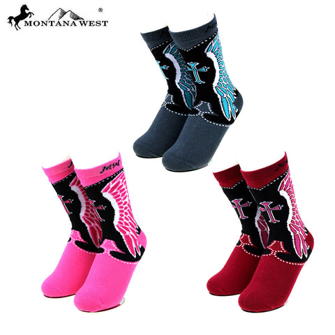 SK-012 Montana West Spiritual Collection Sock Assorted Color (6pcs/Box)