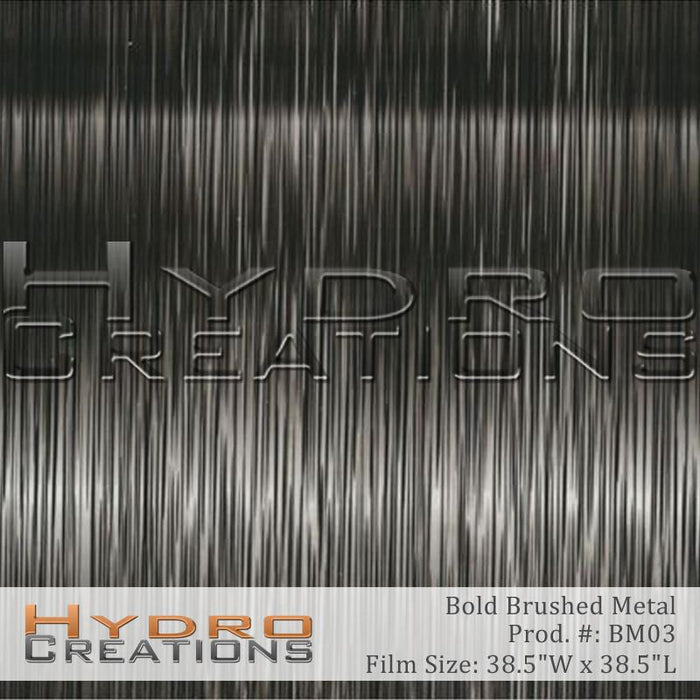 Bold Brushed Metal - Hydro film for hydro dipping and water transfer printing - HydroCreations