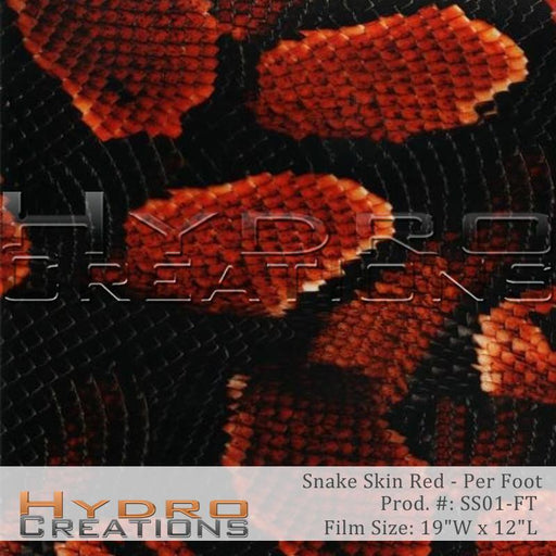 Snake Skin Red - Per Foot - Hydro film for hydro dipping and water transfer printing - HydroCreations