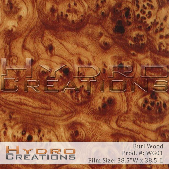 Burl Wood - Hydro film for hydro dipping and water transfer printing - HydroCreations
