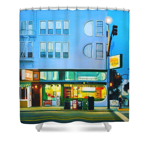 Valencia Blue - Shower Curtain