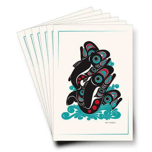 """Salmon"" Art Cards - Shotridge.com"