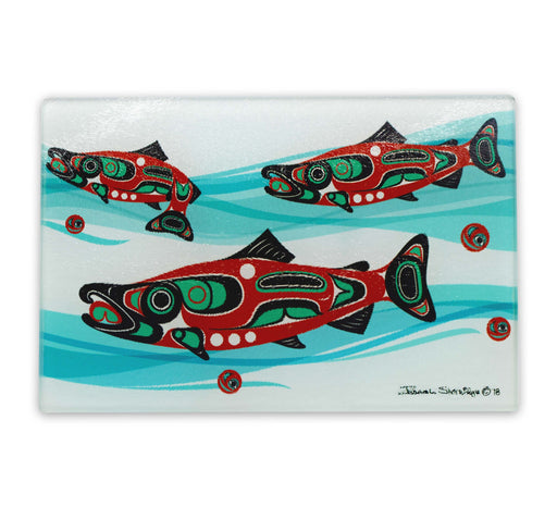 """Salmon Run"" Cutting Board - Shotridge.com"