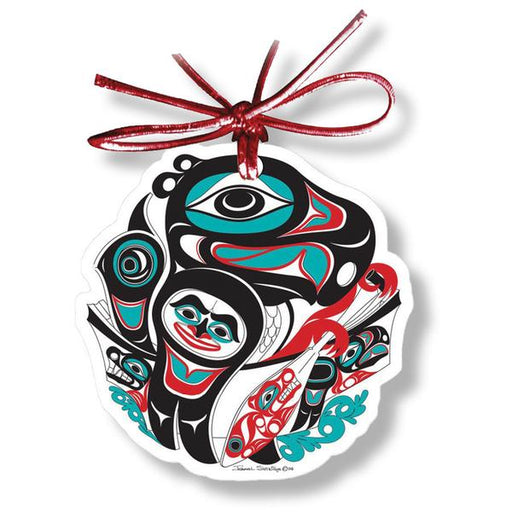"""Going to the Potlatch"" Acrylic Ornament - Shotridge.com"
