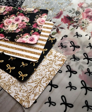 Gold Floral Bows // Double Sided Dividers