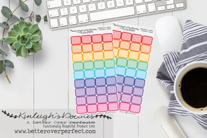 RAINBOW EVENT BOXES // HOBONICHI WEEKS SIZE