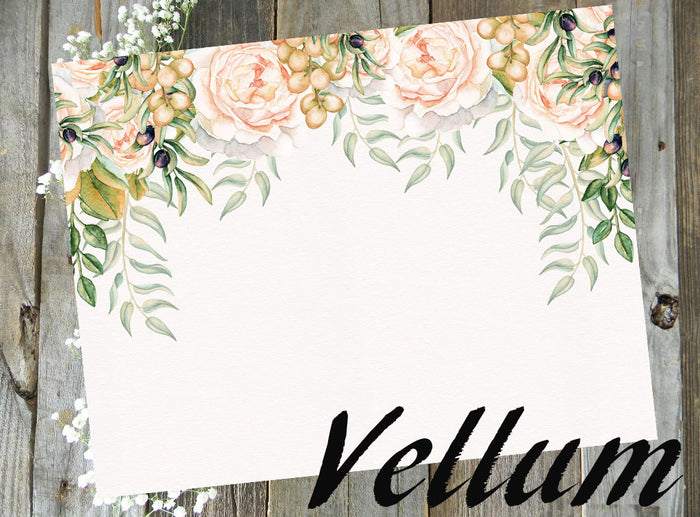 Champagne Floral // Vellum